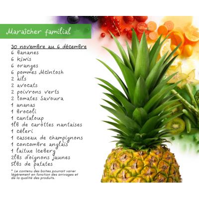 Panier fruits & légumes: le famillial