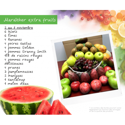 Panier fruits & légumes: Extra fruits