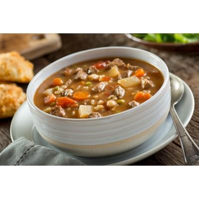 Soupe consistante au boeuf et orge