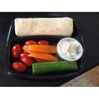 Boite à lunch junior : wrap à la salade au oeufs