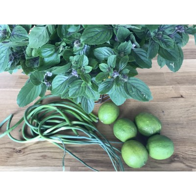 Pesto thaï: Fleurs d'ail & citron vert