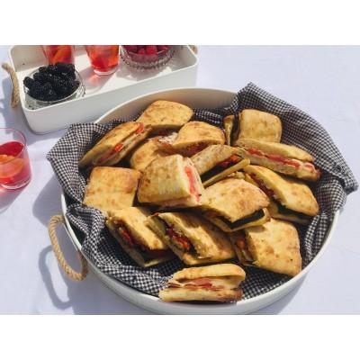 Ciabatta grillé avec salade maison