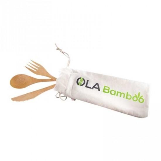 Ustensile réutilisable en bambou avec prime*