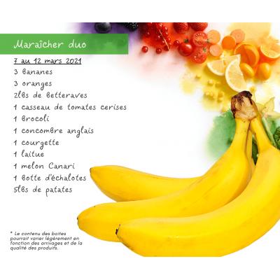 Panier fruits & légumes: le duo