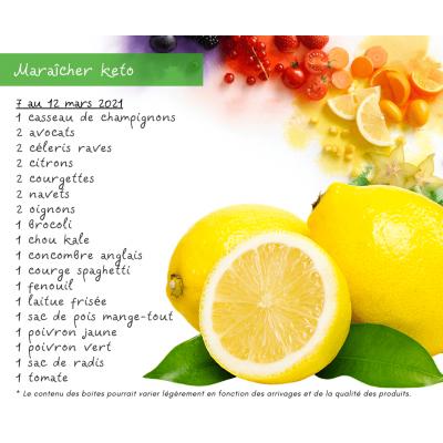 Panier fruits & légumes: le keto