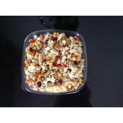 Salade de pâte et légumineuses